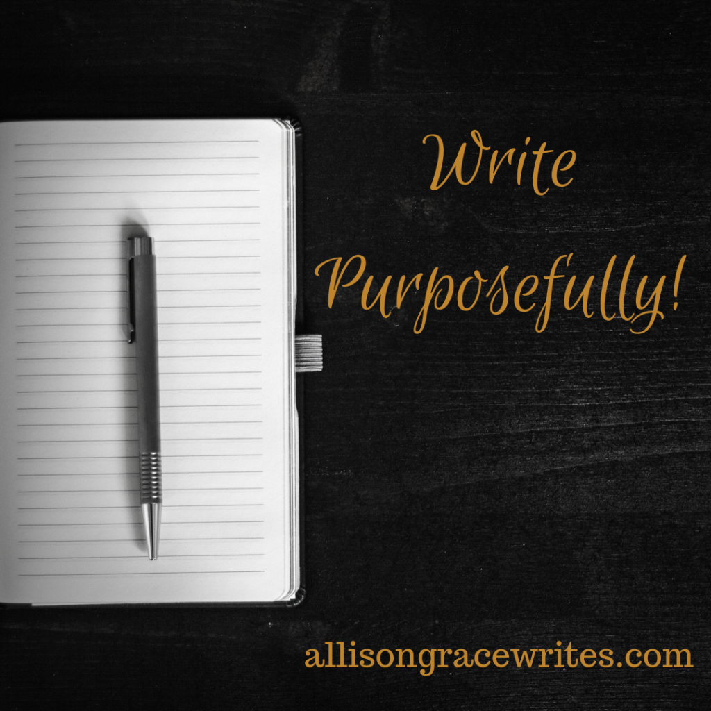 You need to write for a purpose. Not just to write.