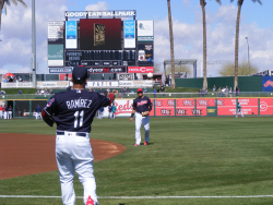 Jose Ramirez at Spring Training. Arizona 2018.