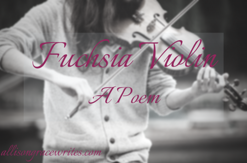 fuchsia violin Allison Grace